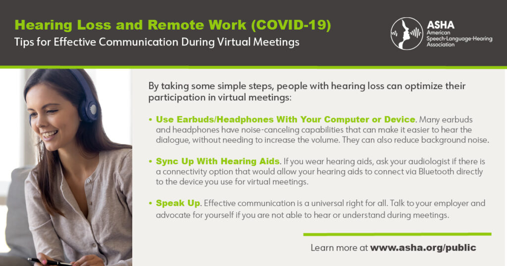 Hearing Loss and Remote Work
